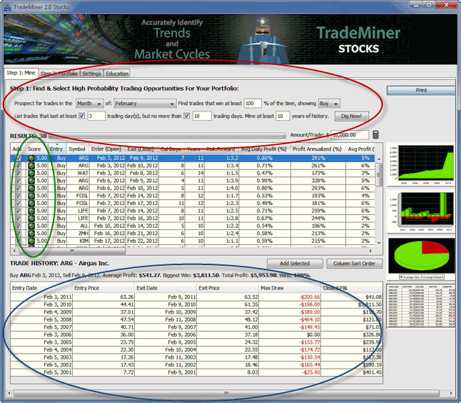 trademiner screen shot