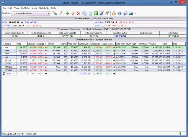 tradetrakker screenshot